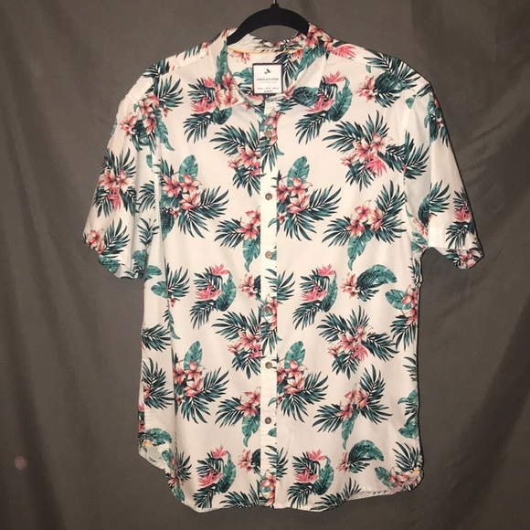 dea2bfa72 Denim & Flower Shirts | Short Sleeve Hawaiianfloral Style Mens Shirt ...